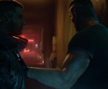 V y un compañero en Cyberpunk 2077.