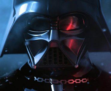 El mítico Darth Vader con su clásica armadura