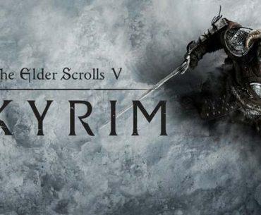Imagen promocional de Skyrim con el Dovahkiin.