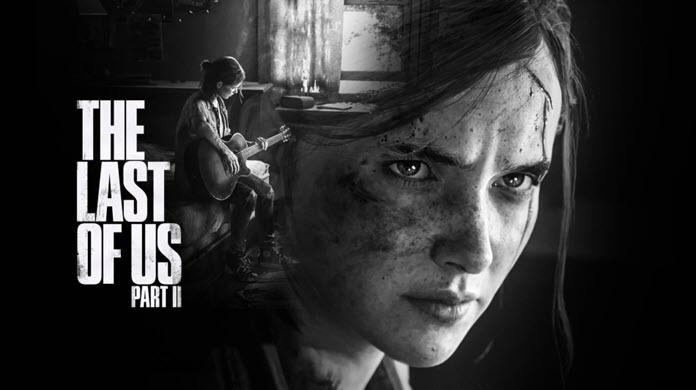 Ellie tocando una guitarra con el logo de The Last Of Us Part 2