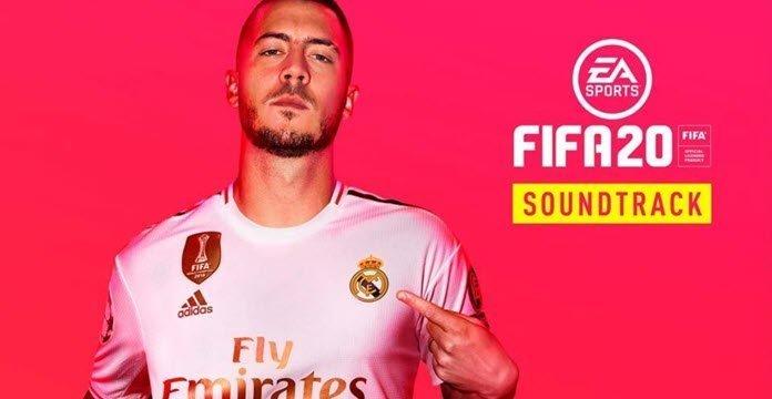 Eden Hazard en la portada del soundtrack de FIFA 20
