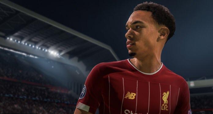 Trent Alexander Arnold con su uniforme del Liverpool en FIFA 21