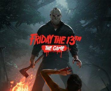 Portada de Friday the 13th: The Game, con Jason Vorhees a punto de matar a un campista con mala suerte