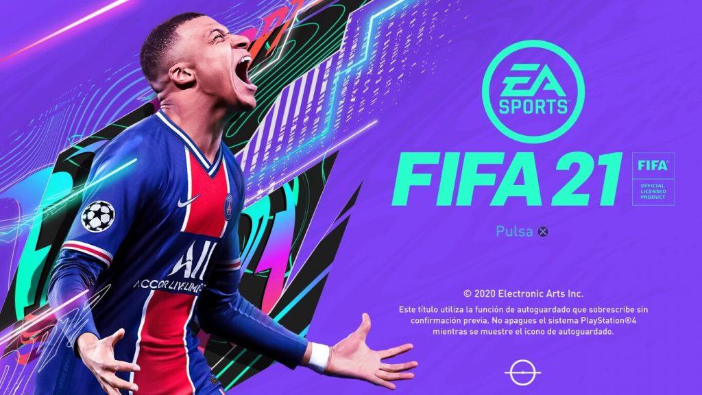 Imagen inicial de FIFA 21.