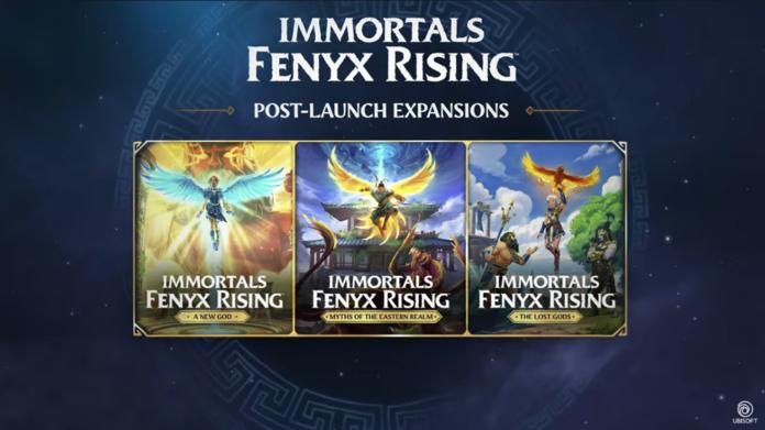 Las tres expansiones de Inmortals: Fenyx Rising.