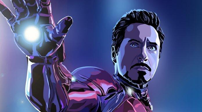 Tony Stark con su traje de Iron Man