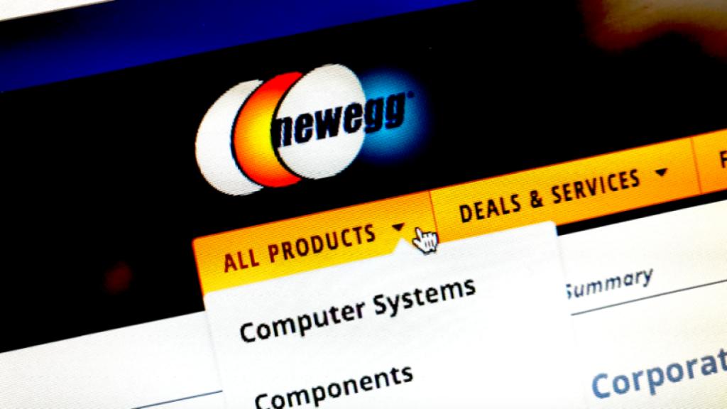 Logo de web de Newegg.