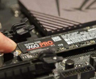 SSD M.2 en una PC.