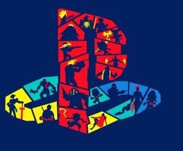 Logo de PlayStation formado por algunos de sus personajes emblemáticos