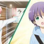 Imagen tomada del anime 'Tonikawa' con la pantalla dividida entre Tsukasa señalando hacia atrás y dando la espalda a la cámara y Tsukasa con una expresión de sorpresa.