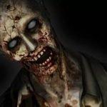 Un zombie de Resident Evil bastante atemorizante con un fondo negro