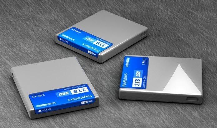 Tres cartuchos SSD de PS5