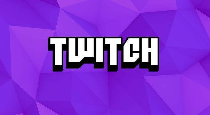 Logo de Twitch con un fondo morado