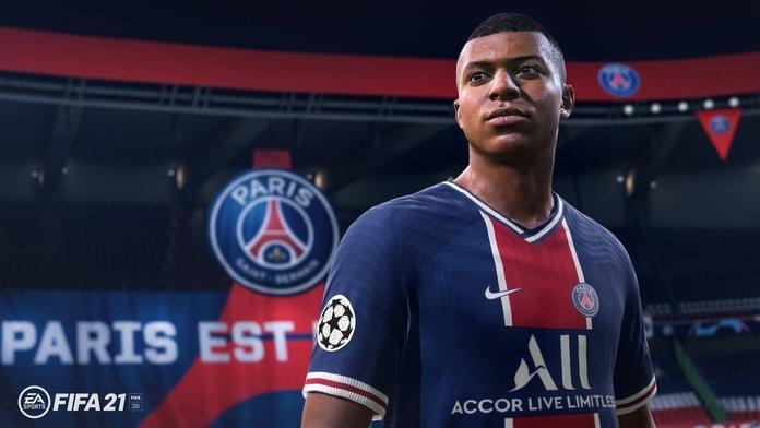 Kylian Mbappé imagen de FIFA 21.
