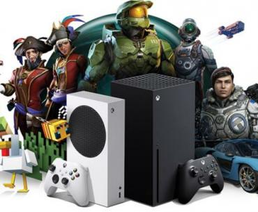 Imagen promocional de Xbox Series S y X junto a franquicias exclusivas.