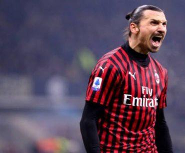 Zlatan con el uniforme del AC Milan