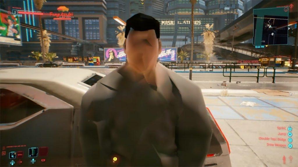 Bug de Cyberpunk 2077.