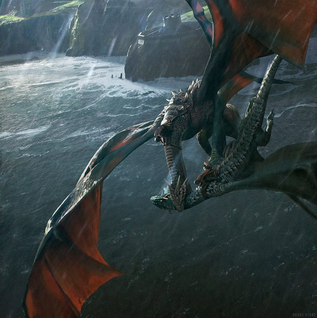 Batalla entre Aemond Targaryen y Lucerys Velaryon en la Danza de Dragones