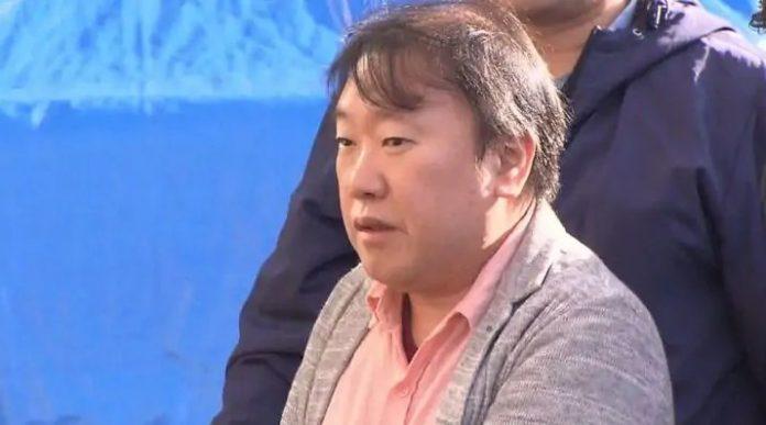 Fotografía de Tomohiro Maki de perfil el día de su arresto.