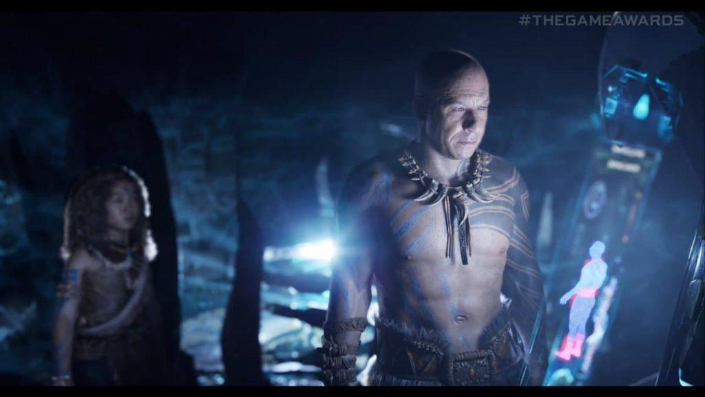 Santiago (Vin Diesel) con los nativos en la secuela.