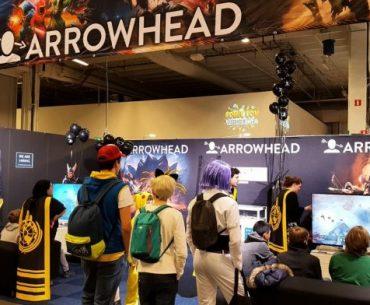 Stand del equipo de Arrowhead en Comic Con