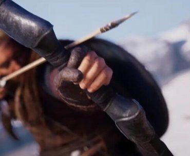 Eivor masculino con arco en Assassin's Creed: Valhalla..