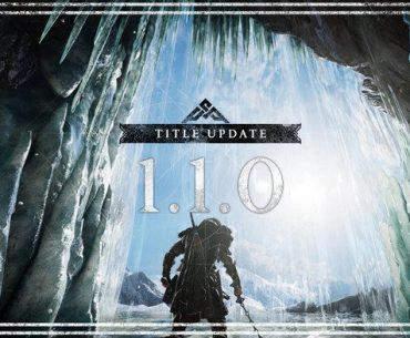 Logotipo de la actualización 1.1 de Assassin's Creed: Valhalla.