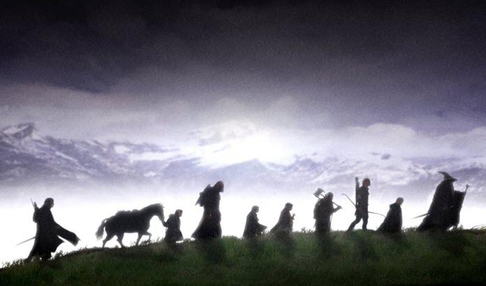 Miembros de la Comunidad del Anillo en The Lord of the Rings
