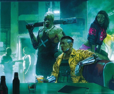 Arte conceptual de Cyberpunk 2077.