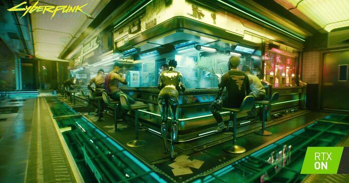 Ejemplo de Ray Tracing en Cyberpunk 2077.