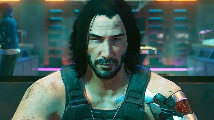 Keanu Reeves en Cyberpunk 2077.