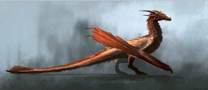 Dragón rojo joven