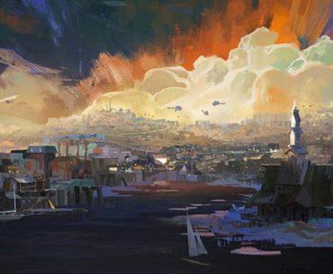 Un lindo paisaje de Disco Elysium