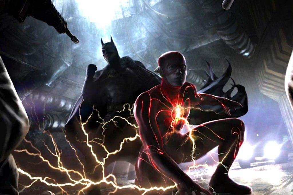 Arte de Flash y Batman.