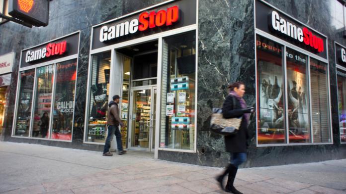 Entrada de tienda GameStop.