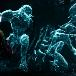 Figuras en una cueva de Returnal.