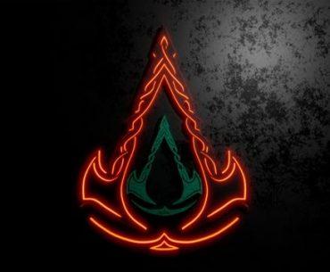 Logo de 'Assassin's Creed Valhalla' hecho con runas