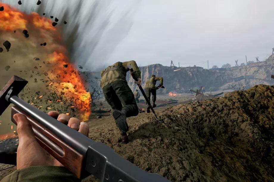 Jugabilidad en el campo de batalla de Medal of Honor: Above and Beyond.