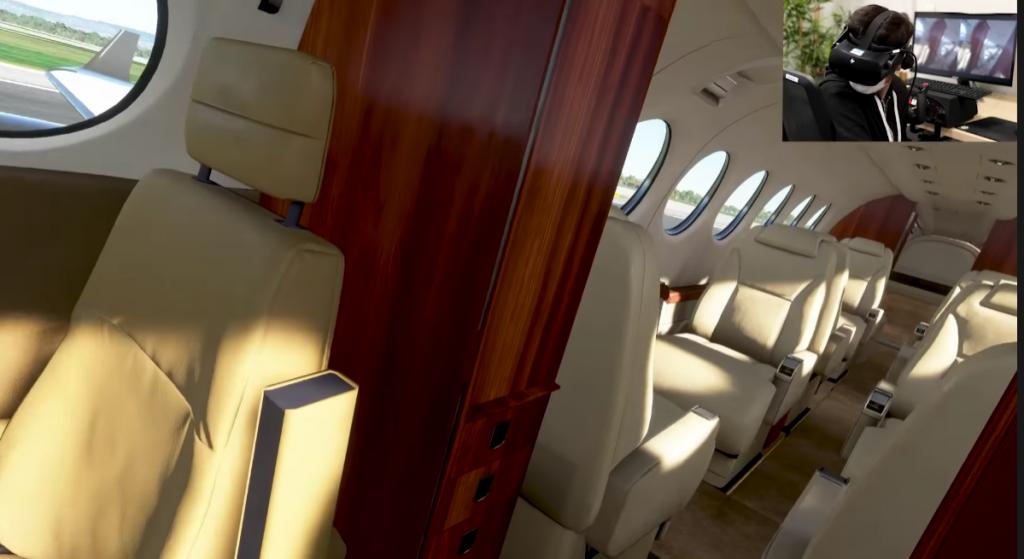 Asobo Studio probando el modo VR de Microsoft Flight Simulator.