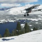Paisaje nevado en Microsoft Flight Simulator.