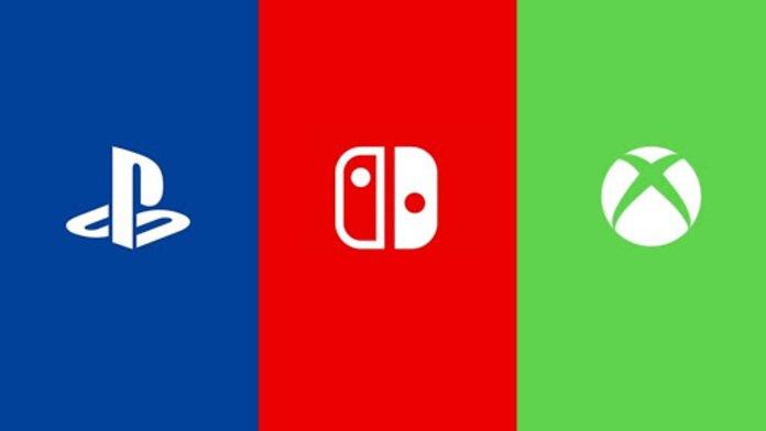 Logos de Nintendo, Sony y Microsoft.