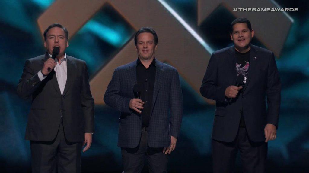 Shawn Layden, Phil Spencer y Reggie Fils-Aime-