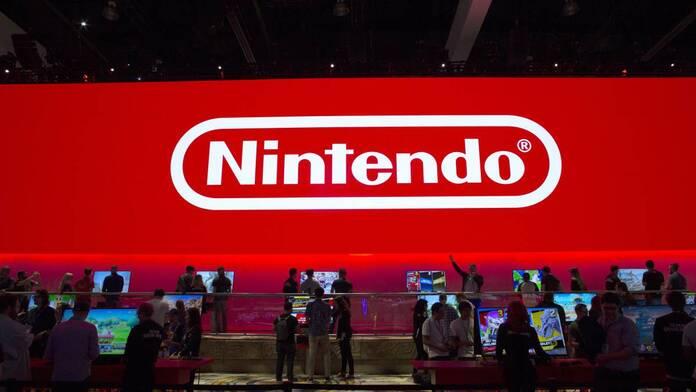 Logo de Nintendo en evento.