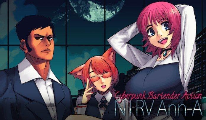 Portada de 1RV Ann-A: Cyberpunk Bartender Action.