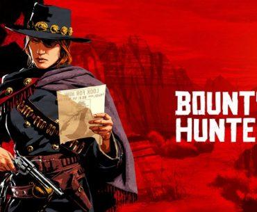 Imagen promocional de una cazarrecompensas de Red Dead Online.