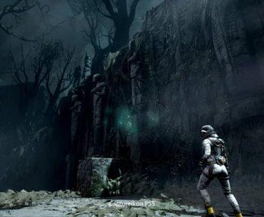 Captura de pantalla de Returnal, basada en su versión de prueba