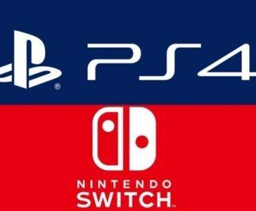 Logo de la Nintendo Switch y de la PS4