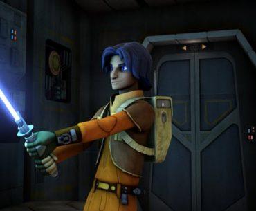 Ezra con su sable de luz en Star Wars Rebels