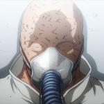Imagen sacada del anime de 'Boku no Hero Academia' con All For One encarcelado en Tartarus mientras sonríe de forma espeluznante.