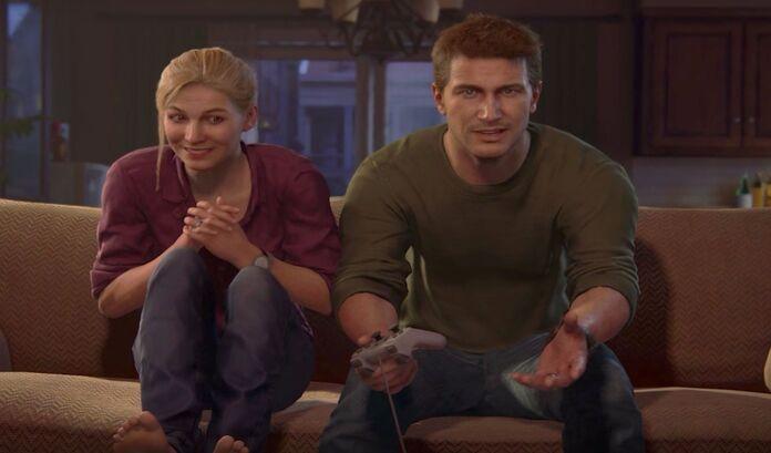 Nathan y Elena juegan Crash juntos.